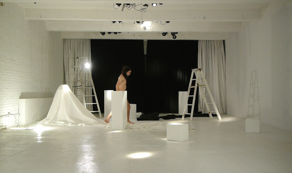 White Abstract Room | Minimalist Set Design NYC