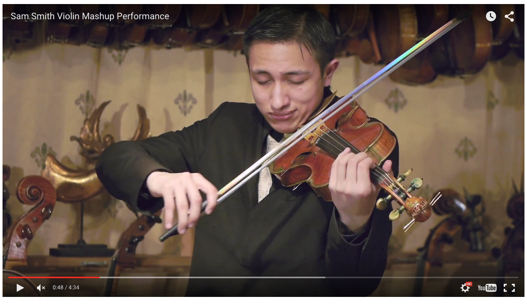 SAM SMITH VIOLIN COVER