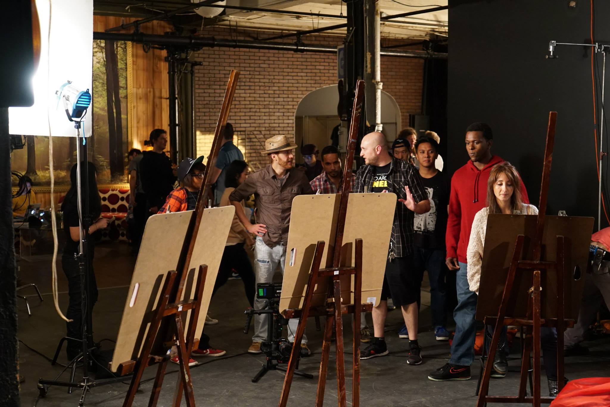 easels and drawing boards for film